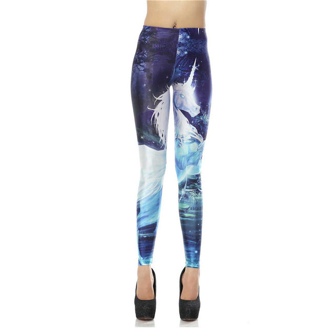 Leggings Fantasy Unicorn Horse 3d