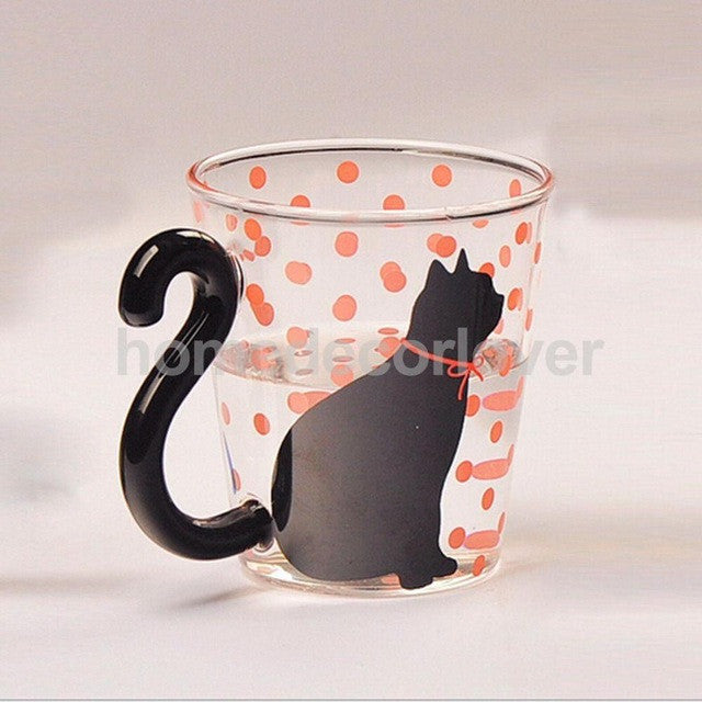 Cat Kitty Glass Mug