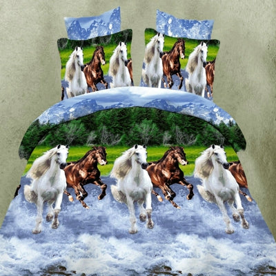 3d horses Bedding Set Duvet Cover  Pillowcase
