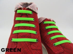 16Pcs/Lot New No Tie Silicone Shoe Laces