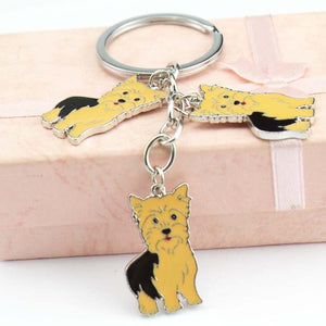 Yorkshire terrier dogs Keychain Alloy Metal Key Ring