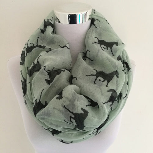10pcs/lot  New Design fashion animal print scarf winter horse