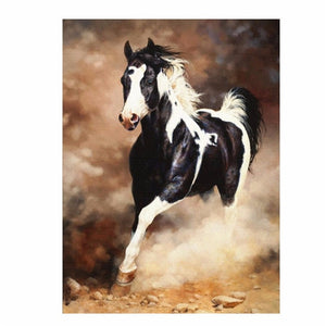 Running Horse Painting By Numbers DIY Hand Painted Unique Gift