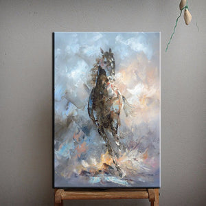 Oil Painting Horse On Canvas