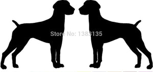 German Shorthaired Pointer Dog Breed (right&left) Car Sticker