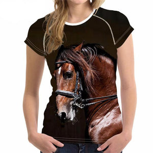 Patinting Horse  T Shirt Women - all over print