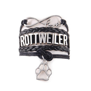 7 colors love ROTTWEILER bracelet dog  jewelry