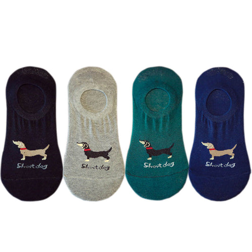 EU 36-42 Korean Cute Dachshund Low cut Socks