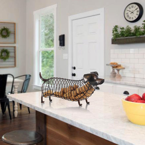 Dachshund Wine Cork Modern steel container Modern Artificial Iron Craft