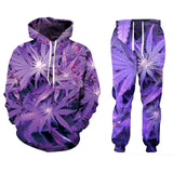Weed 3D Print  2 Pcs Set Hoodies Couple Clothing