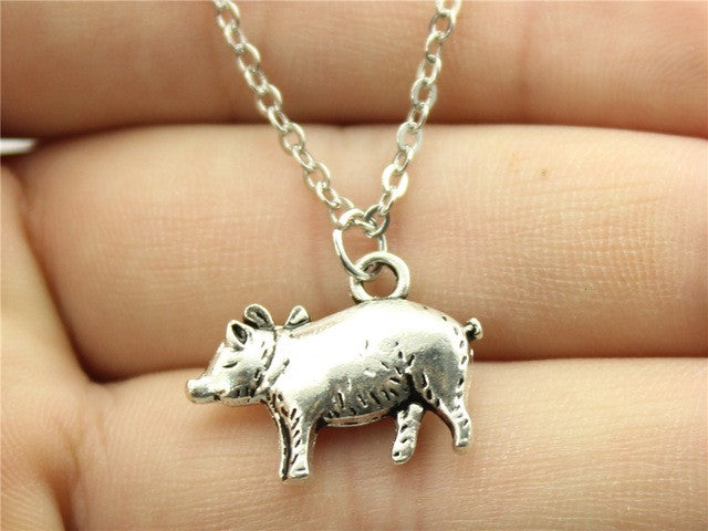 Cute pig pendant necklace barn smile shop for farmer love cow cute pig pendant necklace mozeypictures Gallery
