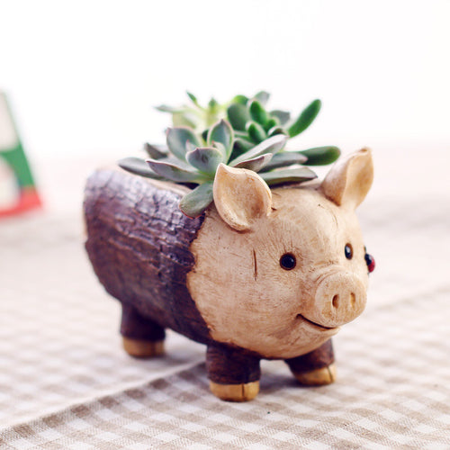 Pig Resin Planter Flower Pot Micro Landscape Garden Home Decoration - Barnsmile.com-Barnsmile.com-shirt, tees, clothings, accessories, shoes, home decor