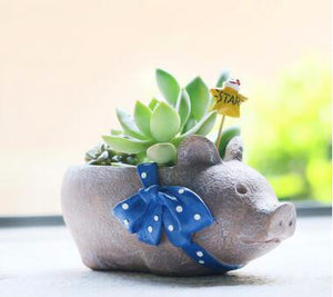 New pig King micro resin flower pot basin  landscape garden decoration craft ornaments