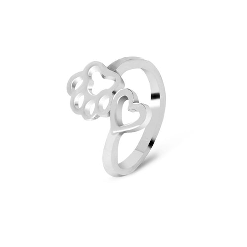 Cute Cat Dog Paw Ring For Women Girl Gift