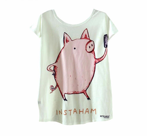 Pig printing T-Shirts Summer Tee For Ladies