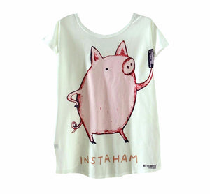 Pig printing T-Shirts Summer Tee For Ladies - Barnsmile.com-Barnsmile.com-shirt, tees, clothings, accessories, shoes, home decor
