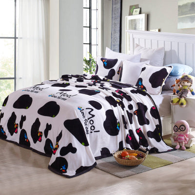 Comfortable Soft Cow Cute Blanket