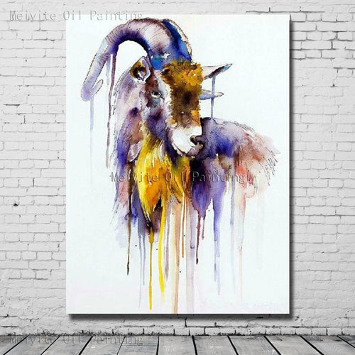 Oil Painting  Goat