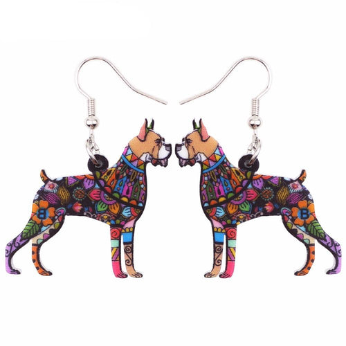 Boxer Dog Earrings Fashionl Jewelry For Women