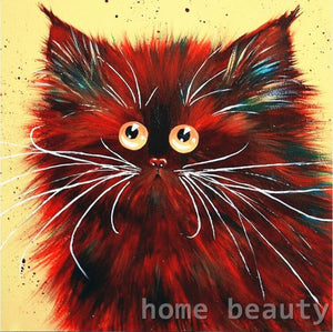 painting coloring drawing by number cats decor