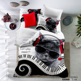HOT  3D music Cat  sets