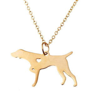 German shorthaired pointer silver gold Color dog Pendant necklaces