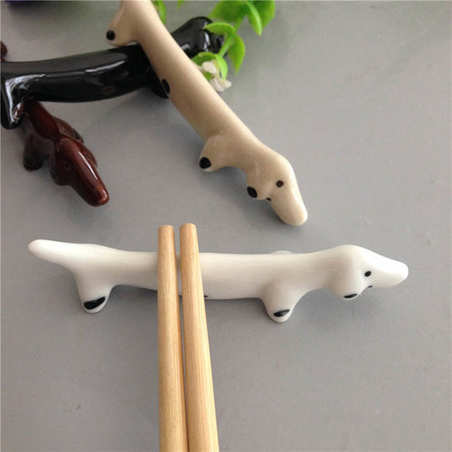 1Pcs Japanese-style Retro Ceramic Dachshund Dog tableware