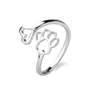 Cat Paw jewelry accessories 925 sterling silver rings