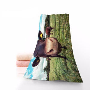 Cow Towel Printed Cotton Face/Bath