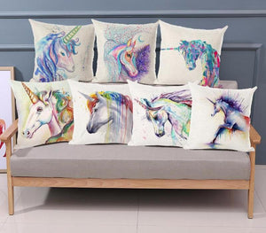 Pillow Case Watercolor Unicorn