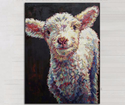 Goat Oil Painting On Canvas