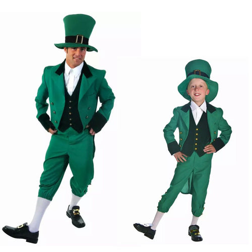 St. Patricks Day Elf Outfit Cheap Fancy Suits For Man & Kids