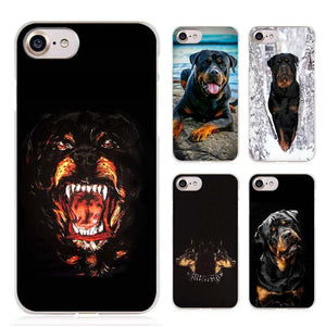 Rottweiler dog Clear Cell Phone Case