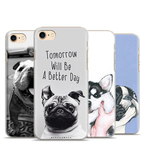 Cute Puppy Pug Siberian Husky Mobile Phone Case For Apple iPhone