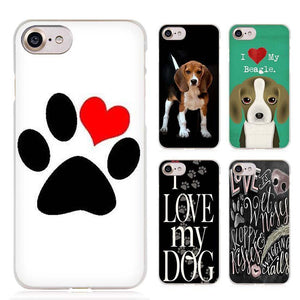 I love my Beagle Dogs Clear Cell Phone Case