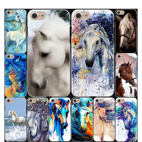 Watercolor Horse print iPhone Case
