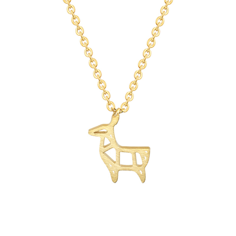 Origami Goat Necklace Barn Smile Shop For Farmer Love Cow Pig