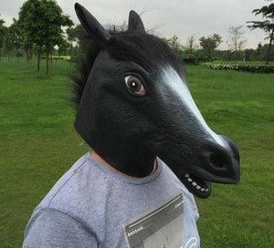Full Face Head Horse mask Rubber Animal Mask Party Halloween