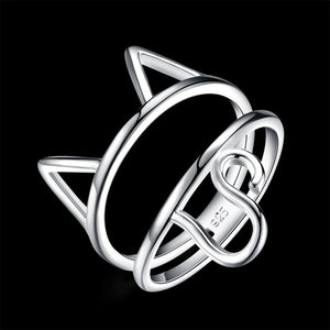Fashion Silver Cat Shaped Rings