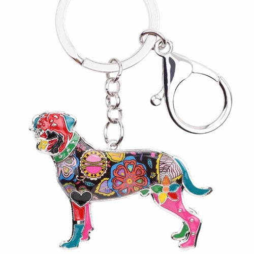 Rottweiler Dog Key Chain Key Ring Souvenir
