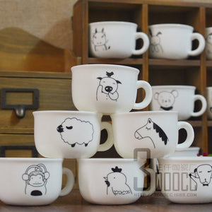 120ML Zodiac cute Ceramic Cup Creative
