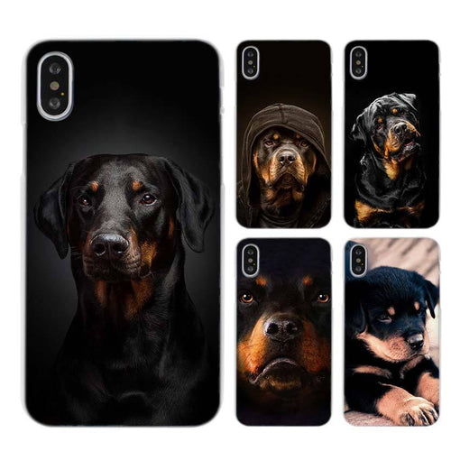 Rottweiler dog art Clear Cell Phone Case