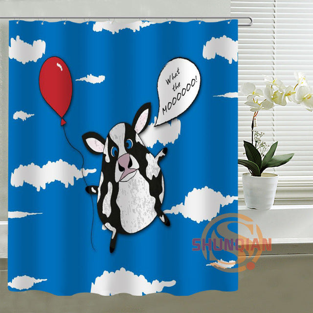 Cow cartoon Shower Curtain