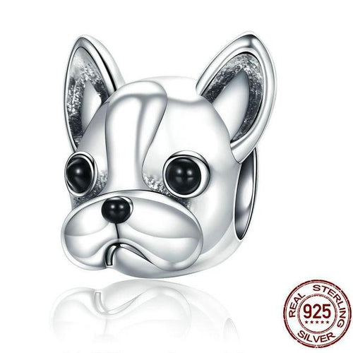 925 Sterling Silver Loyal Partners French BULLDOG Bracelets Jewelry