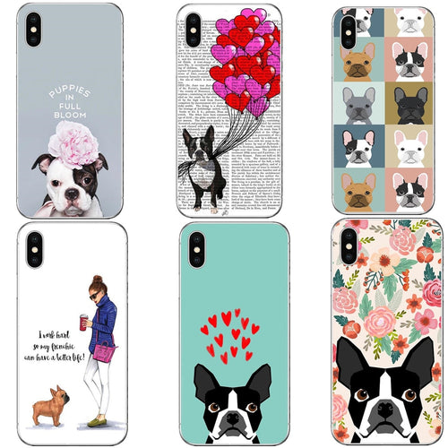 Phone Case Boston Terrier florals Hard  PC Cover french bulldog