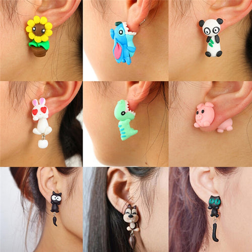 New 100% Handmade Polymer Clay Animals Earrings
