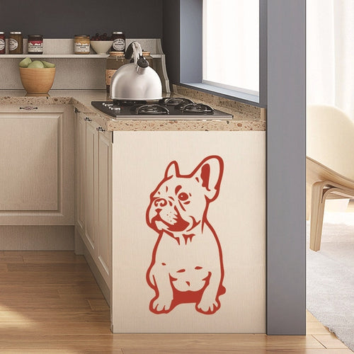 FRENCH BULLDOG WALL STICKER CAR