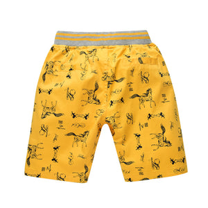 Cotton Cartoon Shorts Kids Clothes Boys horse print