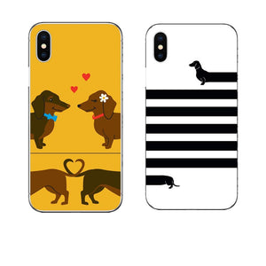 Long Dog Brief Hard PC Phone Case Dachshund dog