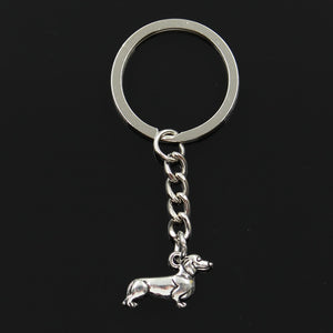 Key Ring Metal Jewelry Silver Plated dog dachshund Pendant